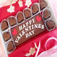Valentine's Day gift - customised chocolate